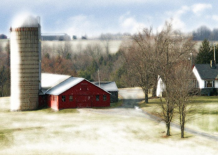 Greeting Card featuring the photograph Bethel Barn by Tom Romeo