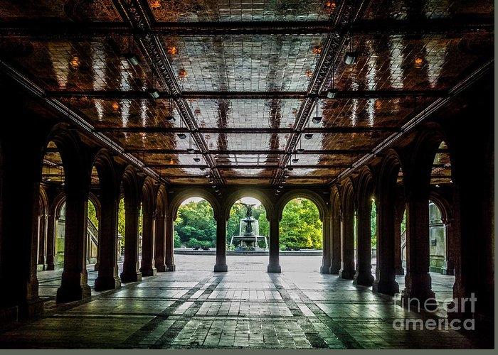 Central Park Greeting Card featuring the photograph Bethesda Terrace Arcade 2 by James Aiken