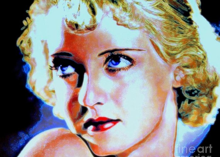 Bette Greeting Card featuring the painting Bette by Wbk