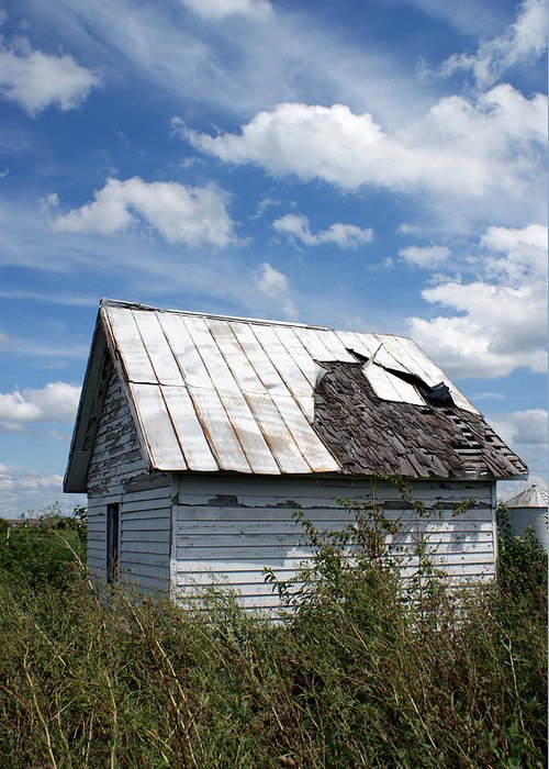 Shed Greeting Card featuring the photograph Better Days by Off The Beaten Path Photography - Andrew Alexander