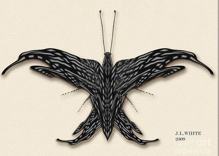 Butterfly--a New Digital Species. Greeting Card featuring the digital art Better Fly by Jerry White