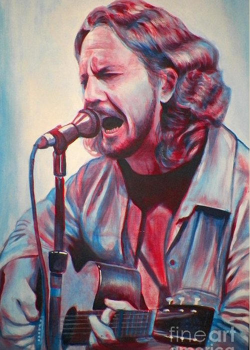 Rock Greeting Card featuring the painting Betterman by Derek Donnelly