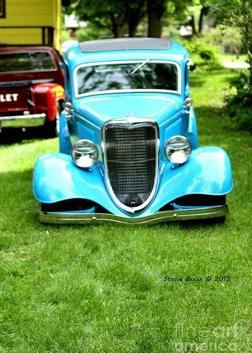 Classic Vintage Auto Automobile Car Life Photograph Collect Collection Greeting Card featuring the photograph Beyond Classic. by Stevie Ellis