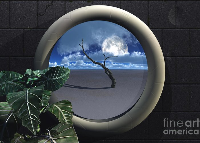 Walls Greeting Card featuring the digital art Beyond Walls by Richard Rizzo