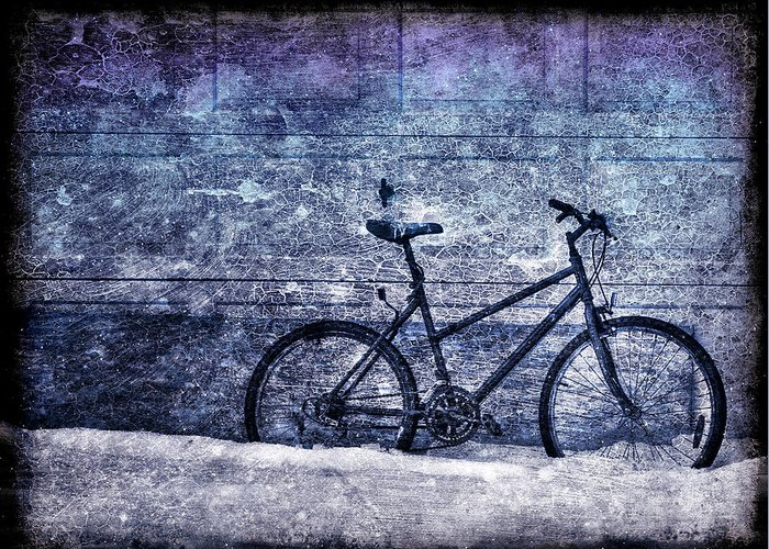 Bicycle Greeting Card featuring the photograph Bicycle by Evelina Kremsdorf