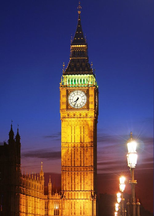 Big Greeting Card featuring the photograph Big Ben At Night by Dan Breckwoldt