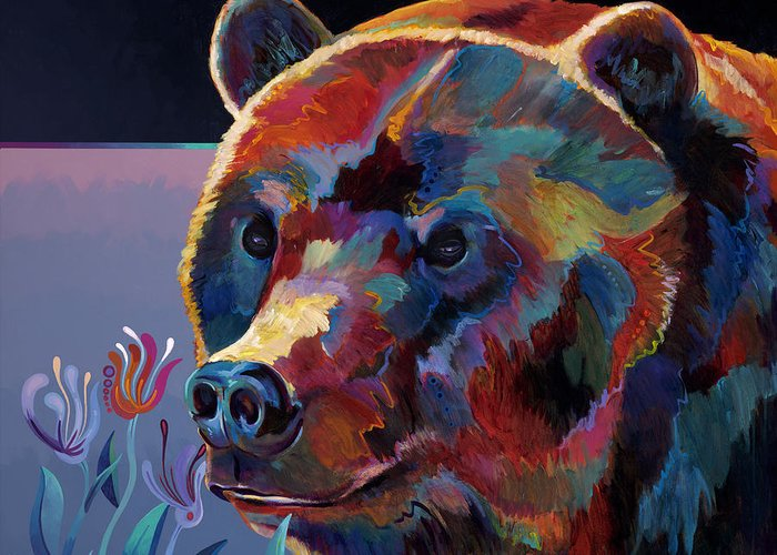 One Of My Most Recent Bear Paintings. Greeting Card featuring the painting Big Ben by Bob Coonts