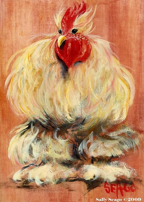Chickens Greeting Card featuring the painting Big Bopper by Sally Seago