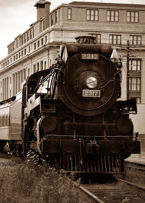 Canadian Pacific Railway Greeting Card featuring the photograph Big Boy... by Arthur Miller