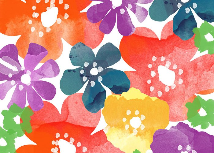 Bright Flowers Greeting Cards