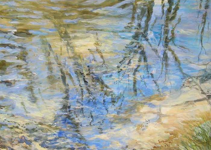 Water Greeting Card featuring the painting Big Creek by Denise Ivey Telep