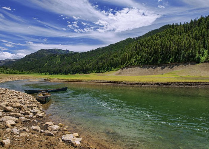 Big Elk Creek Greeting Card featuring the photograph Big Elk Creek by Chad Dutson