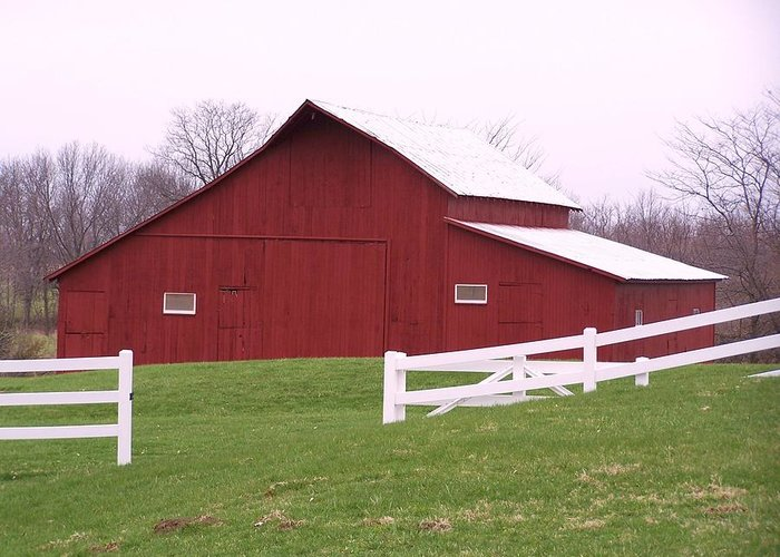 Barn Greeting Card featuring the photograph Big Red by Joseph Norvell