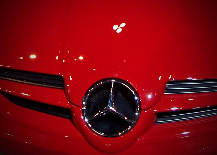 Picture Greeting Card featuring the photograph Big Red Smile - Mercedes-Benz S L R McLaren by Serge Averbukh