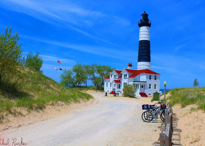 Lighthouse Greeting Card featuring the photograph Big Sable Point Lighthouse by Michael Rucker