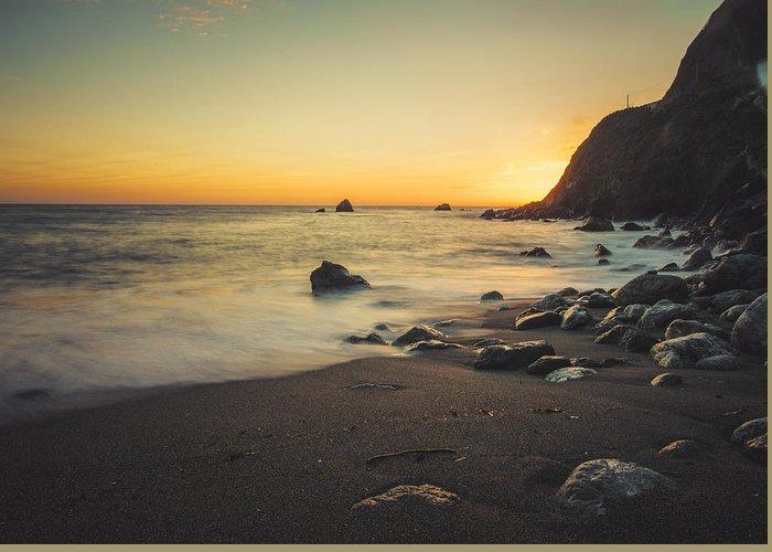 Beach Greeting Card featuring the photograph Big Sur Beach by Lynn Andrews