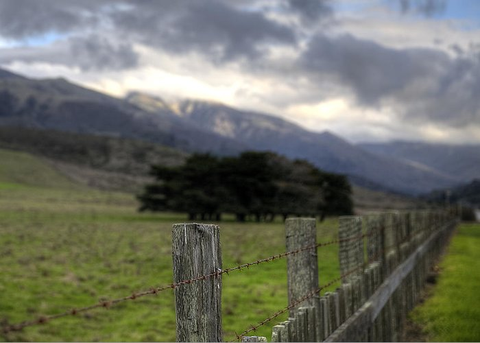 Robert Melvin Greeting Card featuring the photograph Big Sur Fence Line by Robert Melvin