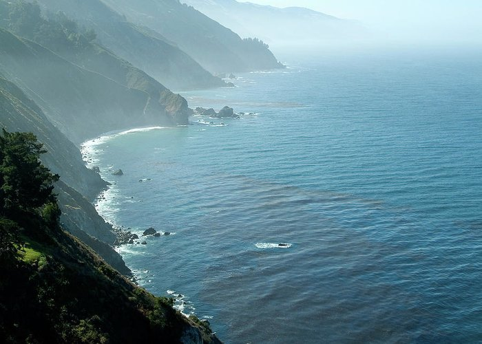 Big Sur Greeting Card featuring the photograph Big Sur Majesty by Charlene Mitchell