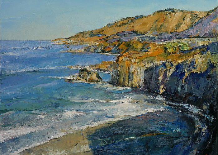 Big Sur Beach Paintings Greeting Cards