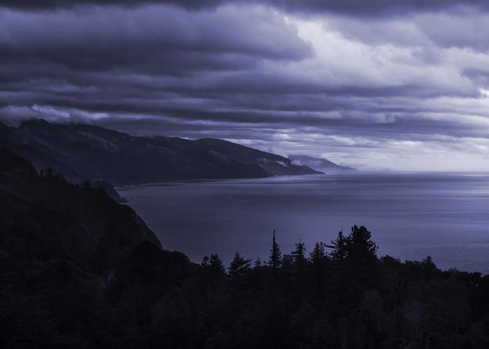 Storm Greeting Card featuring the photograph Big Sur Storm by Matt Trimble