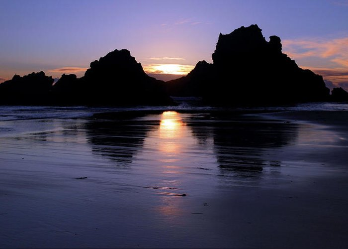 Big Sur Greeting Card featuring the photograph Big Sur Sunset by Pierre Leclerc Photography