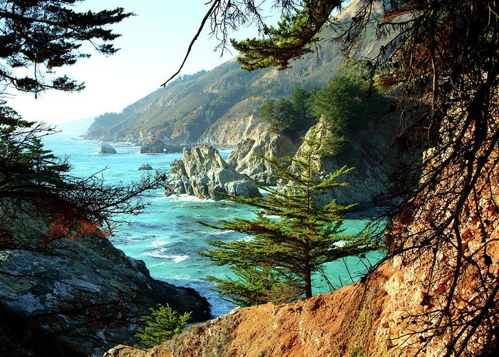 Nature Greeting Card featuring the photograph Big Sur Vista by Charlene Mitchell