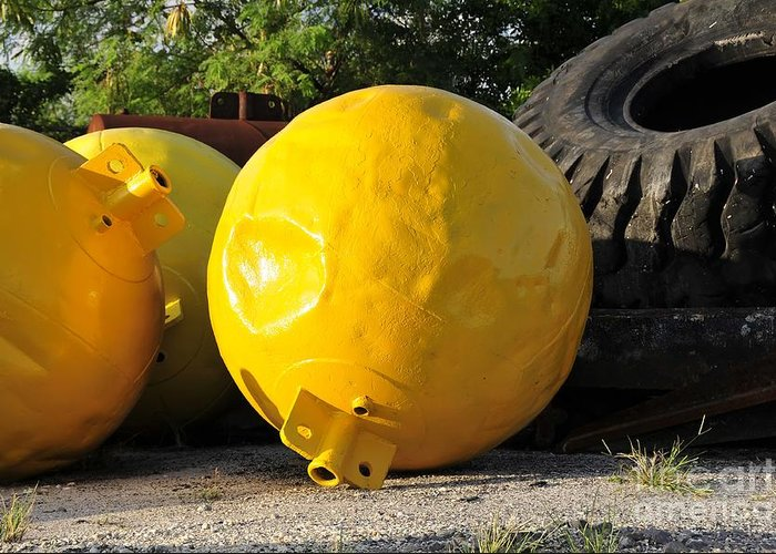 Yellow Greeting Card featuring the photograph Big Yellow Balls by David Lee Thompson
