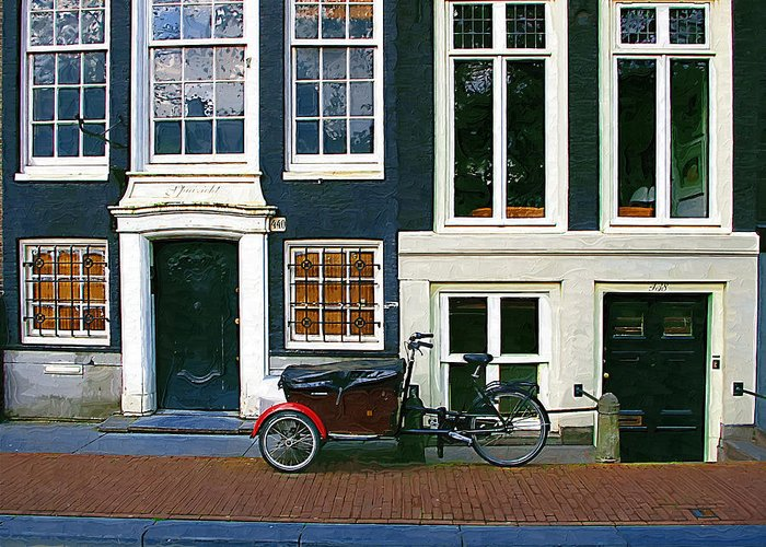 Bike Greeting Card featuring the photograph Bike With The Red Fenders by Tom Reynen