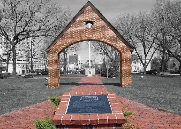 New Jersey Greeting Card featuring the photograph Bill Of Rights Arch-perth Amboy Nj by Frank Nicolato
