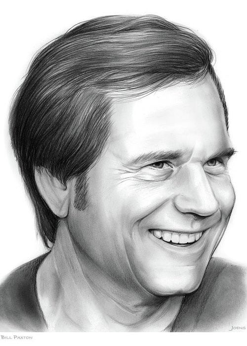 Bill Paxton Greeting Card featuring the drawing Bill Paxton by Greg Joens