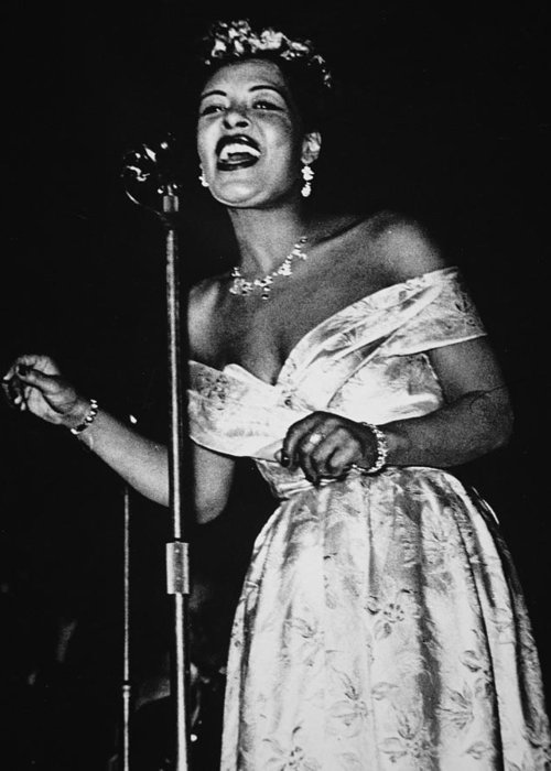 Billie Holiday Greeting Card featuring the photograph Billie Holiday by American School