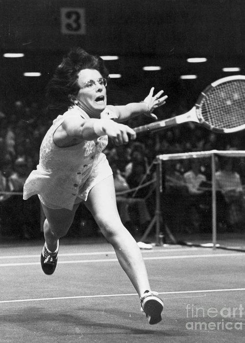 1974 Greeting Card featuring the photograph Billie Jean King by Granger