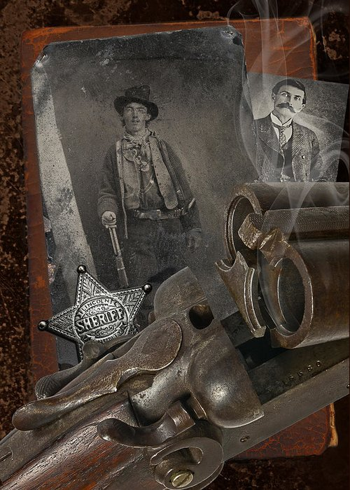 Billy The Kid Greeting Card featuring the photograph Billy And Pat by Robert Hudnall