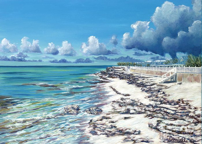 Bimini Greeting Card featuring the painting Bimini Breeze by Danielle Perry