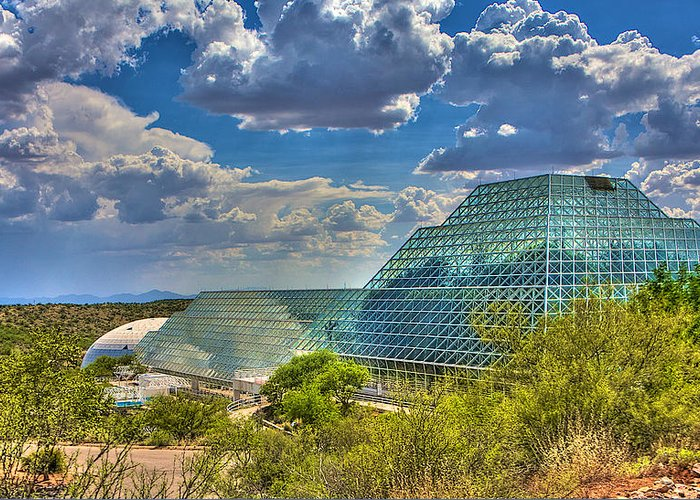 Biosphere 2 Greeting Card featuring the photograph Biosphere 2 by William Wetmore
