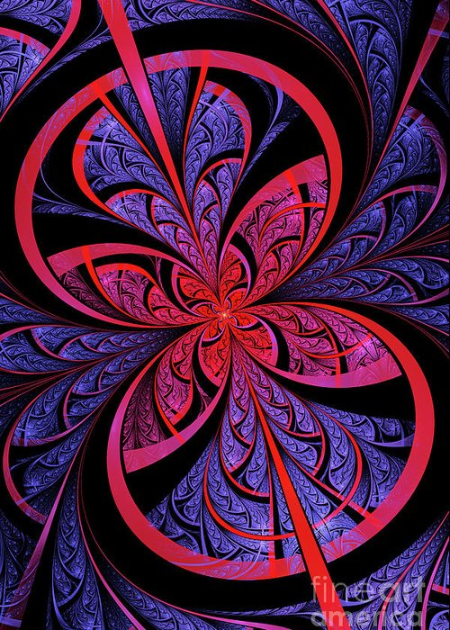 Flame Fractal Greeting Card featuring the digital art Bipolar by John Edwards