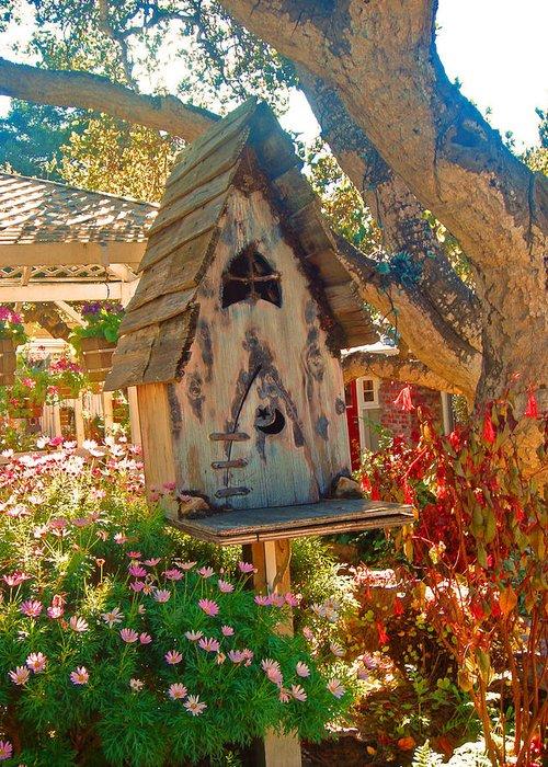 Bird House Greeting Card featuring the photograph Bird House by Dorota Nowak