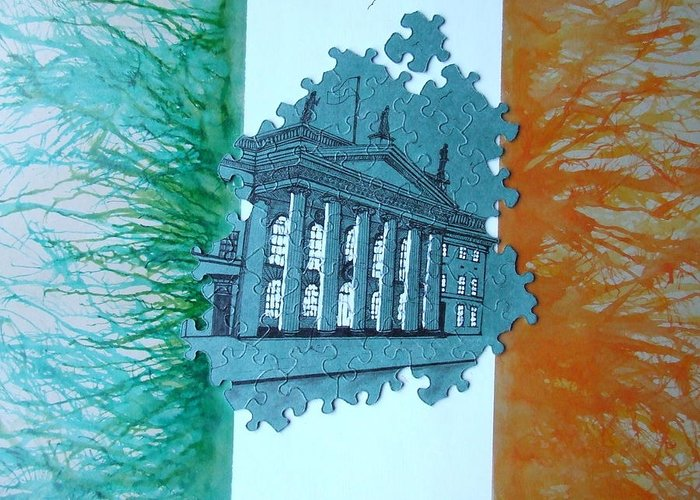 Ireland Greeting Card featuring the painting Birth Of A Nation by Christopher Delaney