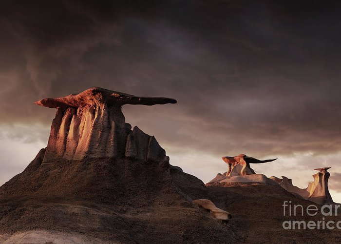 America Greeting Card featuring the photograph Bisti Badlands, New Mexico, Usa by Dmitry Pichugin