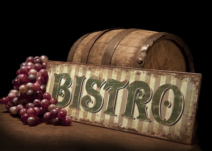 Bistro Greeting Card featuring the photograph Bistro Still Life Iv by Tom Mc Nemar