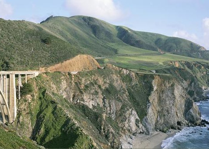 North America Greeting Card featuring the photograph Bixby Bridge Over Bixby Creek by Rich Reid