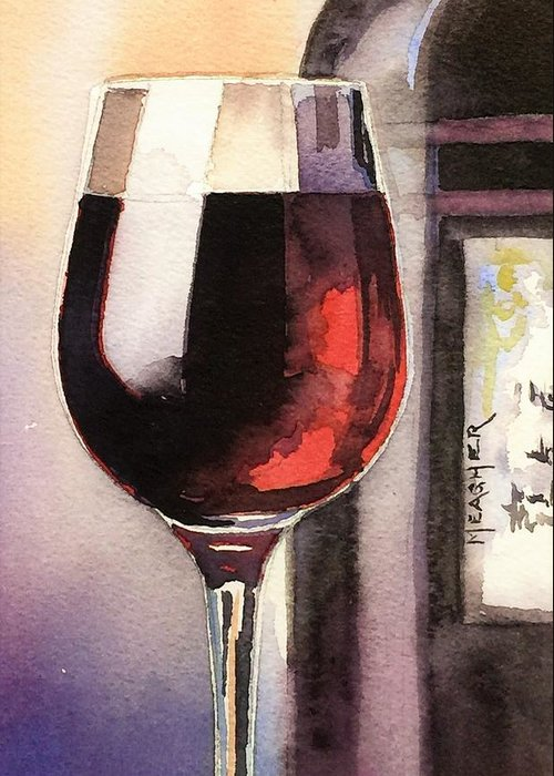 Long Stem Wine Glass Paintings Greeting Cards