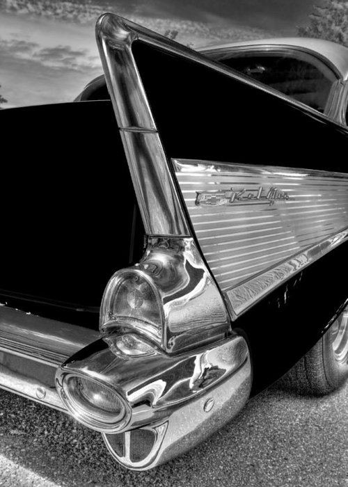 Bel Air Greeting Card featuring the photograph Black And White Bel Air by Naman Imagery