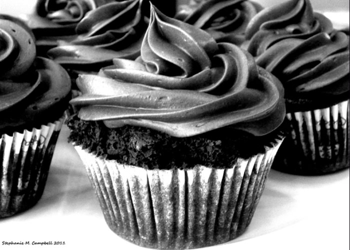 Black And White Cupcakes Greeting Card For Sale By