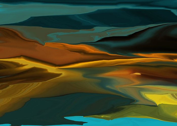Fine Art Greeting Card featuring the digital art Black Hills Abstract by David Lane