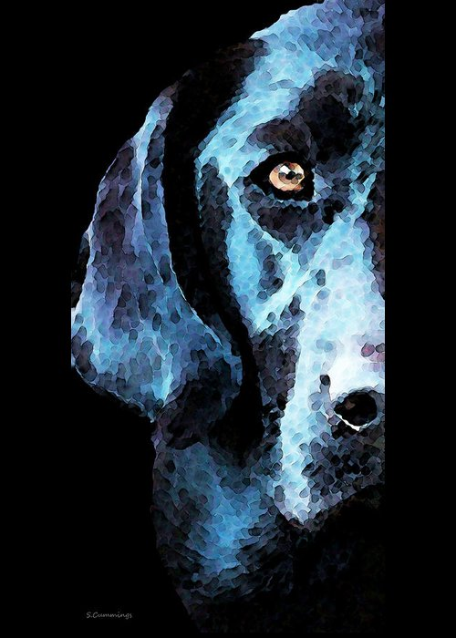 Dog Abstract Art Greeting Cards