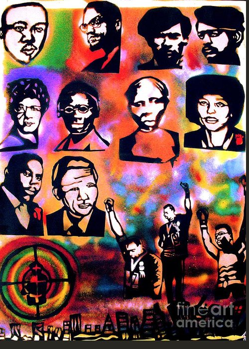 Dr. Martin Luther King Jr. Greeting Card featuring the painting Black Revolution by Tony B Conscious