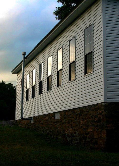 Church Greeting Card featuring the photograph Blackburn Church Sunset by Curtis J Neeley Jr