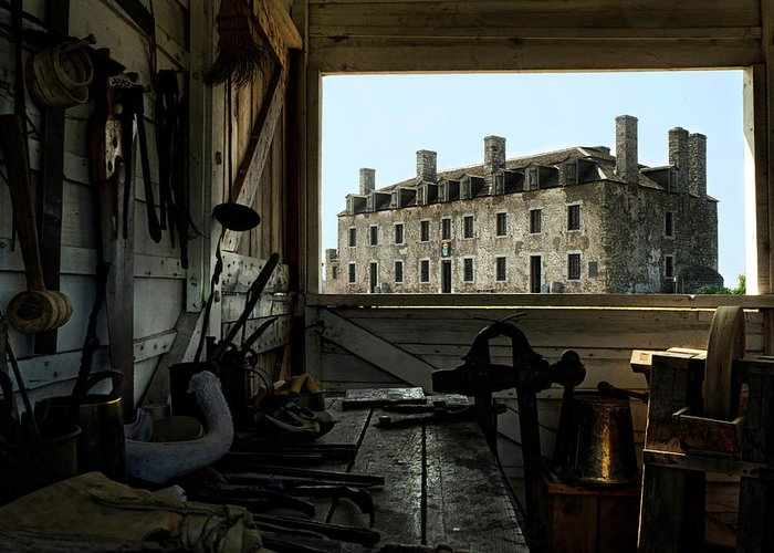 Old Fort Niagara Greeting Card featuring the photograph Blacksmith Shed by Peter Chilelli