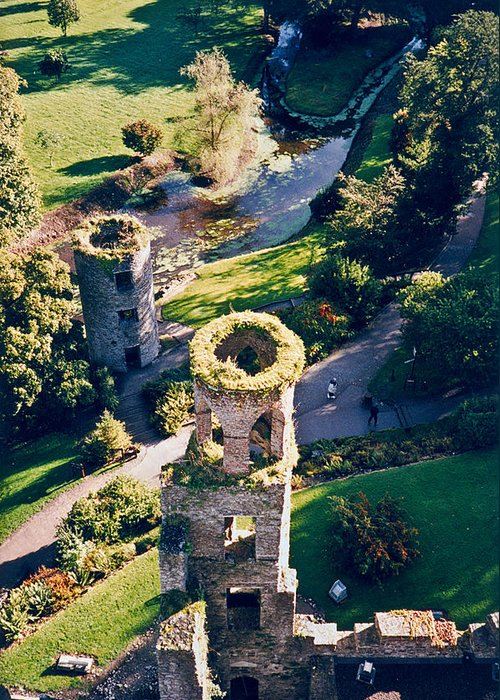 Blarney Greeting Card featuring the photograph Blarney Castle Ruins In Ireland by Douglas Barnett
